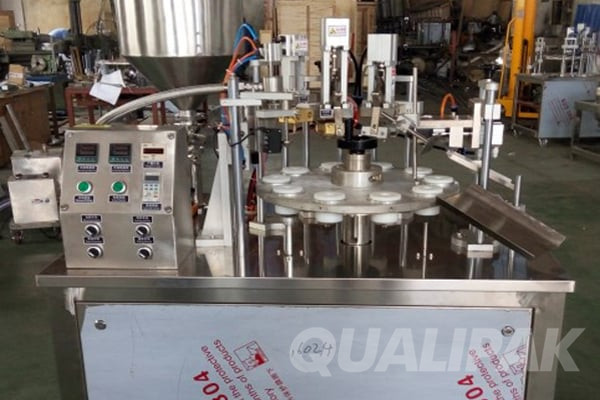 Semi-Auto Tube Filling Sealing Machine